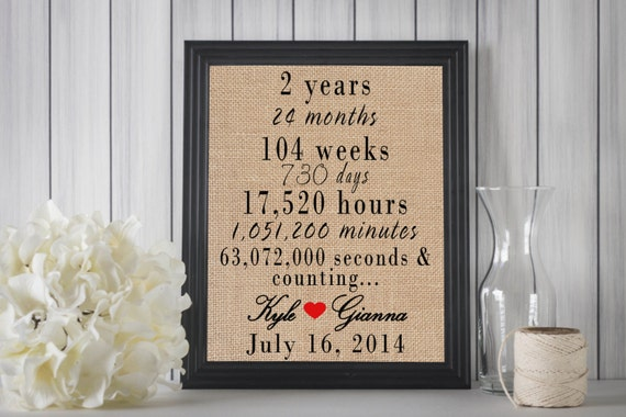 2nd Year Wedding Anniversary Gift Ideas For Him: 2 Year Anniversary 2 Year Anniversary Gift For By