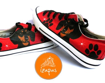 Hand Painted Dachshund Sneakers