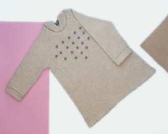 Warm, wool dress, WINTER FINAL SALE, wool baby dress / Woolen hoody dress/