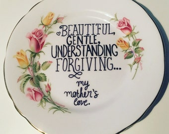 Unique Mother's Day gift - small vintage plate