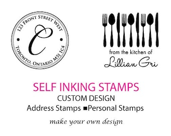 Self Inking Stamps/Custom Design Ink Stamp/Office Supplies/Hostess Gift