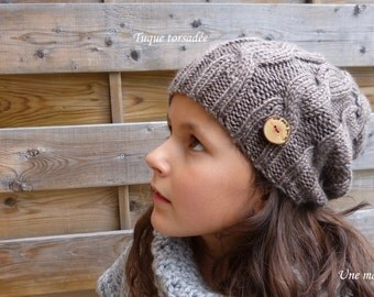 Twisted hat (dark grey)
