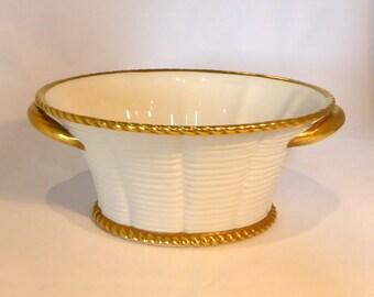 Vintage Vista Alegre Basket with gilding