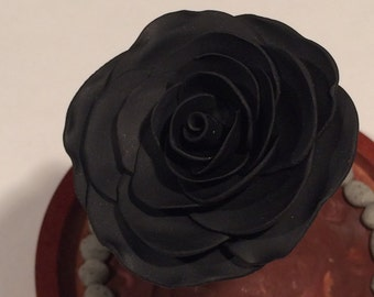 Black Rose, Night Rose, Beauty and the Beast Rose, Rose in Glass, Enchanted rose, disney rose, goth rose, steampunk rose, Twisted Fairy Tale