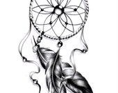 Boutique tattoo lifestyle par tattoolifestyle sur etsy for Acchiappasogni disegno