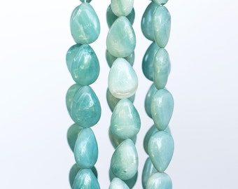 1443_Amazonite 13x18 mm, Natural stone, Drop beads, Mint stone, Gemstones for jewelry, Teardrop stone beads, Natural amazonite, Mint stones.