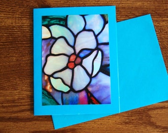 Blank Notecard; Stain-glass Window 5x7 Notecard; All Occasion Card: Sympathy Card; Easter Card