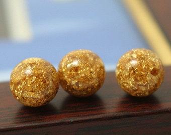 Gold Foil Beads,6mm/8mm/10mm/12mm 20pcs