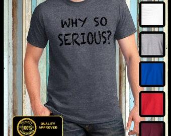Why so serious Joker Inspired Heath Ledger tshirt