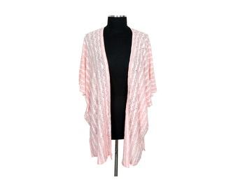 Soft Pink Lightweight Knit Cocoon Kimono