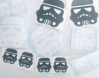 Stormtrooper Decal,Star Wars, Car Decal, Window Decal, Water bottle Decal, Laptop Decal
