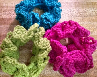 Hair Scrunchies/Solid Color Scrunchies/Crocheted Scrunchies