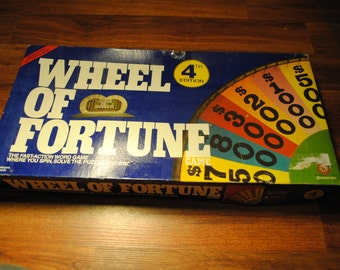 Wheel of Fortune (4th Edition) Board Game - 1988 - Pressman