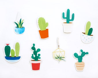 Cactus Magnets • Decorative Magnets • Succulent Magnets • Refrigerator magnet, fridge magnet, cute magnet