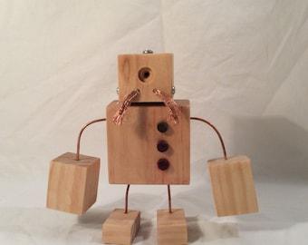 Moustached Wood Robot