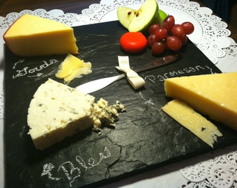 Chalkboard Platter Cheese Plate Tray Natural Slate Stone