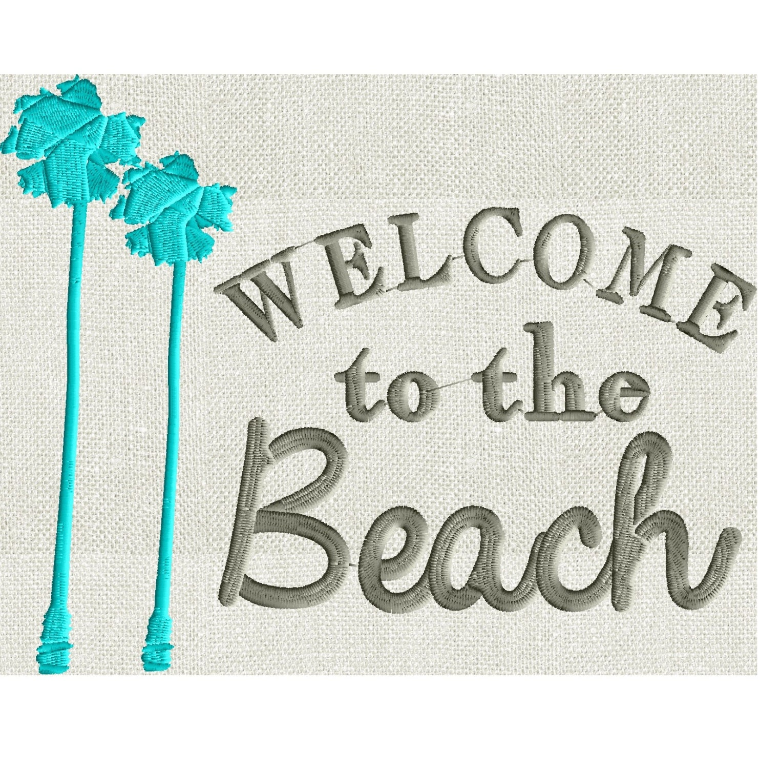 Home quote welcome to the beach embroidery design for Beach house embroidery design