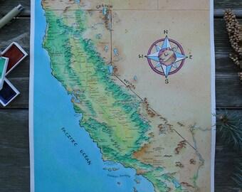 Fantasy map of California