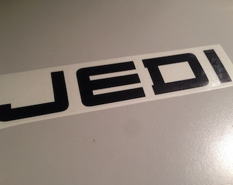 JEDI - vinyl window decal