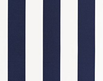 SCHUMACHER CLASSIC MODERN Stripes Fabric 10 Yards Navy