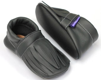 Soft sole leather baby shoes READY TO SHIP soft sole eco-friendly recycled leather infant toddler girl boy gift moccasins