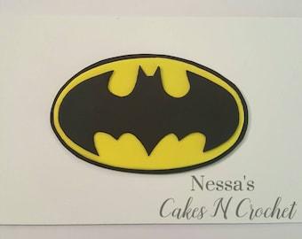 Batman fondant cake topper