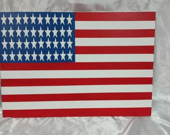 Handpainted American Flag sign