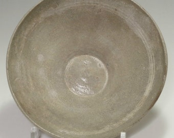 Antique Korean Inlaid Celadon Pottery Bowl #2171