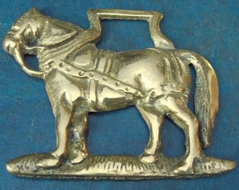 Genuine vintage HORSE BRASS Shire Horse design Made in England