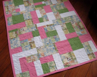 "Pretty in Pink Baby Crib Quilt 36"" x 46"""