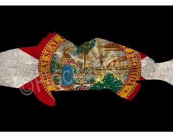 Custom Redfish License Plate Black