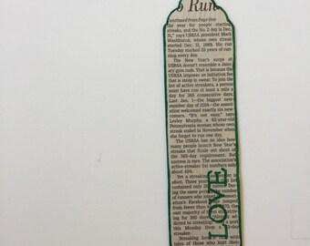 "Newspaper ""Love"" Bookmark"