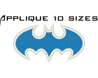 BAT APPLIQUE DESIGN Bat Embroidery Design Machine Embroidery Design Super Hero Embroidery File Superhero Machine Applique Designs No:57