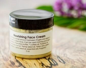 Organic Face Cream - Organic Moisturizer - Natural Facial Moisturizer - Natural Face Cream - Antiaging Cream - Paleo Moisturizer - Vegan