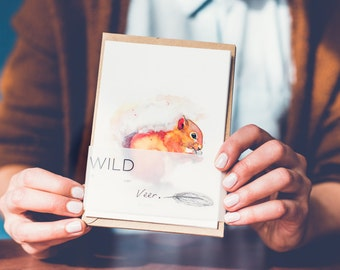 Wild: set of five cards forest