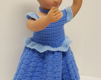 "18"" Doll Cinderella Inspired Blue Ball Gown"