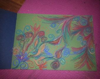 "Pastel intuitive drawing ""Spirit"""