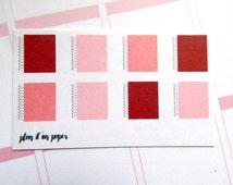8 Spiral Notebooks // February ECLP Color Scheme // Planner Stickers // Calendar Stickers