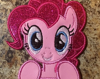 Pony (MLP) Pinkie Pie Inspired Iron On Appliqué - Birthday Number, Peeker, Full Body