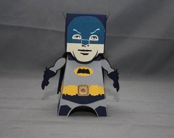 Cube Dude: Retro Batman - Papercraft