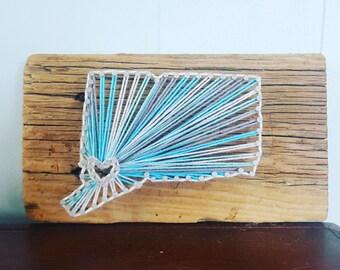 Connecticut Driftwood String Art