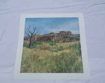 Ghost Ranch East - Print on fine art Gicllee - representational landscape - 10 x 10 image
