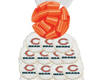 12pack NFL Chicago Bears  Decorated Sugar Cookies