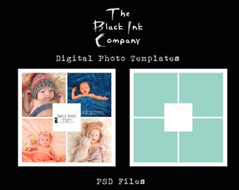 Instagram Collage Template #2 and Logo