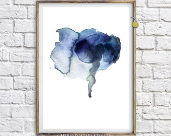 Elephant - Watercolor Print - Home decor, watercolor painting, watercolor abstract, Illustration, watercolor animal, elephant poster, art.