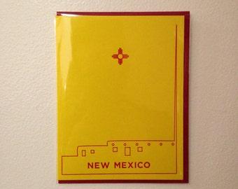 Single NM Letterpress Card