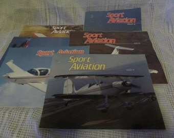 Collection of 6 Sport Aviation magazines from 1986