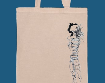Surrealist Woman Dalí hand painted tote bag!