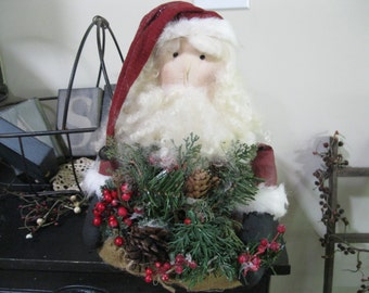 Santa Decoration - Holiday Decoration - Christmas Decoration - Centerpiece
