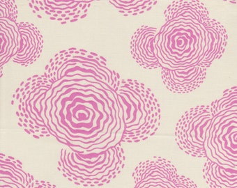 FQ - Amy Butler Midwest Modern for Rowan Fabrics - Floating Buds in Linen/Pink - Quilting Cotton